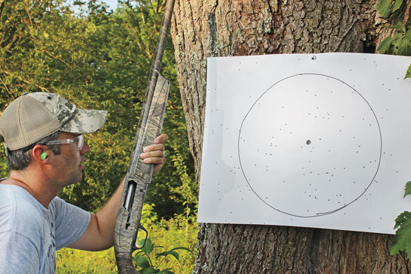 What is a sufficient percentage of pellets within the circle?