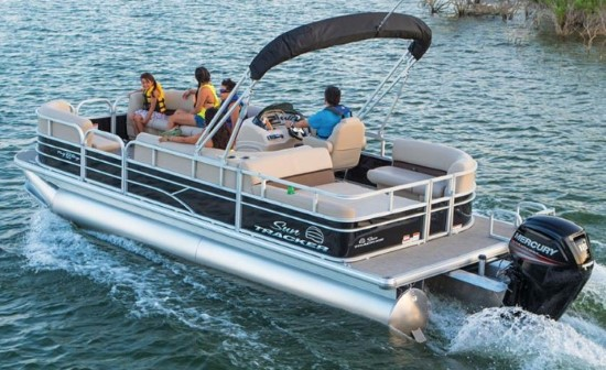 pontoon boat on water